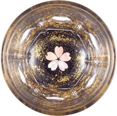 Gold cherry blossom (black)