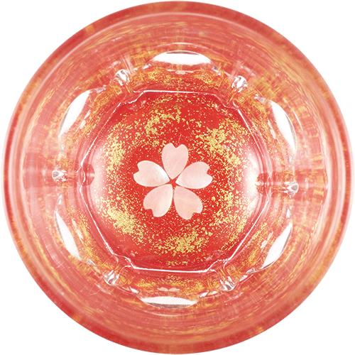 Gold cherry blossom (vermilion)